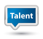 Talent prime blue banner button Stock Images