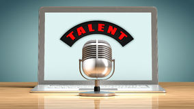 Talent recruitment through the internet Royalty Free Stock Photos