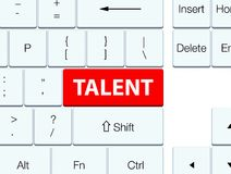 Talent red keyboard button Stock Photos