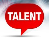 Talent-roter Blasen-Hintergrund stock abbildung