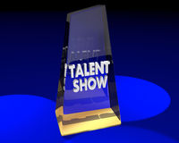 Talent Show Award Prize Trophy First Place Royalty Free Stock Photos