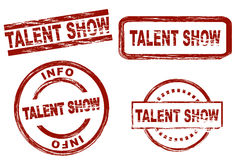 Talent show ink stamp set Royalty Free Stock Photography