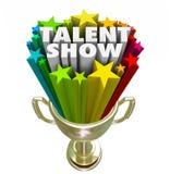 Talent-Show-Trophäen-Sieger-bester Ausführend-Wettbewerb vektor abbildung