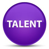 Talent special purple round button. Talent isolated on special purple round button abstract illustration Royalty Free Stock Images