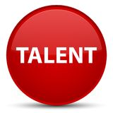 Talent special red round button Royalty Free Stock Image