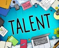 Talent umiejętności zdolność potencjału wiedzy specjalistycznej Obdarzony pojęcie ilustracja wektor