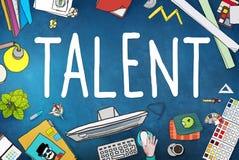 Talent umiejętności zdolność potencjału wiedzy specjalistycznej Obdarzony pojęcie royalty ilustracja