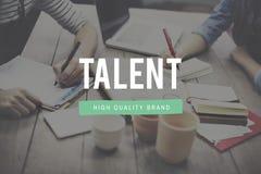 Talent umiejętności zdolność wiedzy specjalistycznej ilości pojęcie fotografia stock
