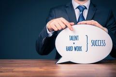 Talent und harte Arbeit machen Erfolg lizenzfreie stockfotografie