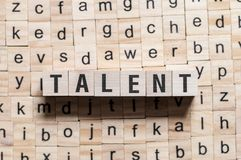 Talent word concept royalty free stock photo