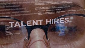 Talent zatrudnia tekst na tle żeński przedsiębiorca budowlany zbiory wideo