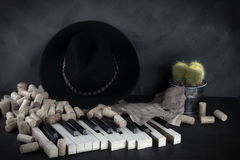 Talented composer found himself dependent on alcohol. Talented musician composer found himself dependent on alcohol Royalty Free Stock Images