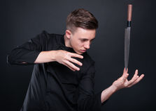 Talented Cook Making Magic With His Knife