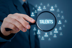 Talented managers and business persons. Human resources or headhunter search talented managers and another business person Royalty Free Stock Photo