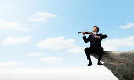 Talented people are to be on top! Stock Photo