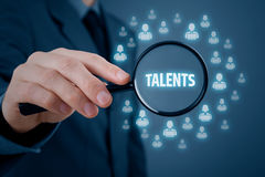 Talented programmers. Human resources or headhunter search talented programmers and software developers Royalty Free Stock Photos