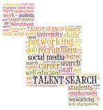 Talentenonderzoek stock illustratie