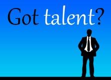 ¿Talento conseguido? Foto de archivo