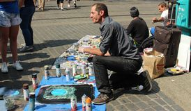 Talento en la calle foto de archivo libre de regalías