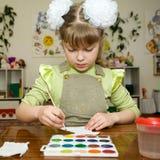 Talento joven en el jardín de la infancia fotos de archivo libres de regalías