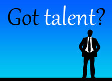 Talento obtido? Foto de Stock