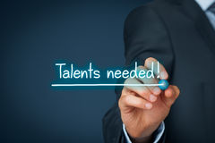 Talents requis photo stock