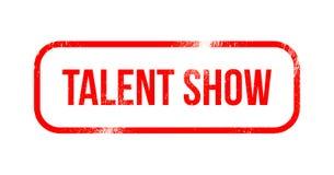 Talentu przedstawienie - czerwona grunge guma, znaczek ilustracja wektor