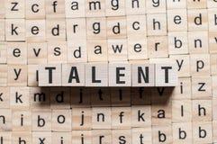 Talentu słowa pojęcie zdjęcie royalty free