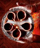 Talerz Diyas - świętowania diwali Zdjęcie Stock