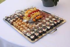 Talerz folujący z włoszczyzna stylu palcowym jedzeniem Obraz Stock