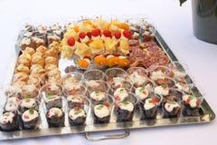 Talerz folujący z włoszczyzna stylu palcowym jedzeniem Zdjęcia Royalty Free