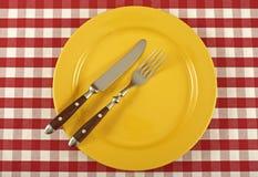 Talerz i cutlery Zdjęcie Stock