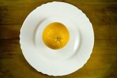 Talerz i pomarańcze Obraz Stock