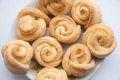 Talerz krótcy chlebowi ciastka z pecans Obraz Stock