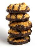 Talerz Macaroon Kokosowi ciastka Fotografia Royalty Free