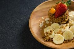 Talerz śniadanie na stole Obraz Royalty Free