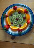 Talerz owoc Obraz Royalty Free