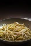 Talerz spaghetti fotografia stock