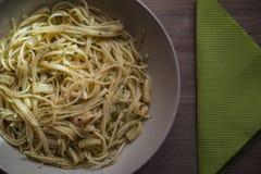 Talerz spaghetti obrazy royalty free