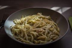 Talerz spaghetti zdjęcie stock