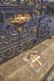 Talerz St John Nepomuk na Charles moscie 2 Zdjęcie Stock