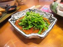 Talerz tajwańczyk styl gotująca paproć obraz stock