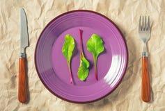 Talerz z beetroots liśćmi zdjęcia royalty free