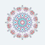 Talerz z elegancja plemiennym ornamentem, mandala również zwrócić corel ilustracji wektora royalty ilustracja