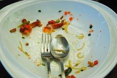 Talerz z kruszki jedzeniem, Pozostały Tajlandzki jedzenie, Selekcyjna ostrość zdjęcia stock