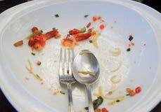 Talerz z kruszki jedzeniem, Pozostały Tajlandzki jedzenie, Selekcyjna ostrość zdjęcie royalty free