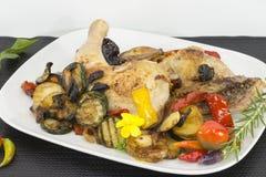 Talerz z kurczak nogami Fotografia Stock