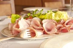 Talerz zimni mięsa zdjęcie royalty free