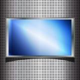 talerza błękitny kruszcowy ekran Fotografia Royalty Free