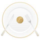 Talerza i euro cent dwadzieścia Obrazy Stock
